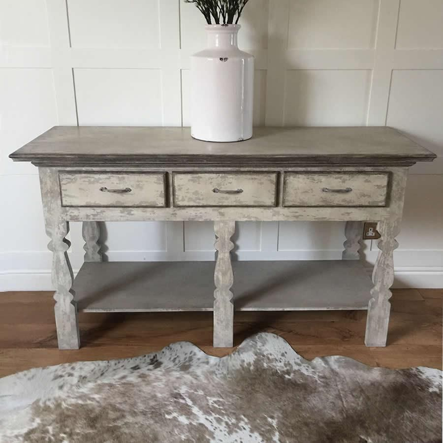 Grey Living Room Shabby Chic Large Shabby Chic Distressed Grey Console Hall 3 Drawer Table Shabby Chic Hall Table Shabby Furniture Shabby Chic Console Table