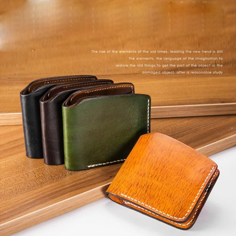 02121f4f6845 Overview: Design: Handmade Mens Cool Short Leather Wallet Men Small Wallets  Bifold for MenIn Stock: Ready to Ship (2-4 days)Include: Only WalletCustom:  ...