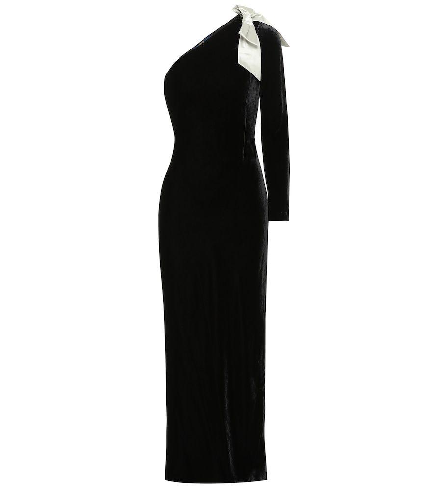 One-Shoulder-Kleid aus Samt  One shoulder kleid, Kleider
