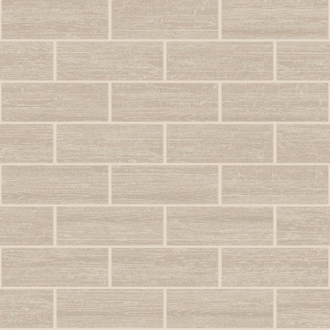 bathroom tile wallpaper  Holden Wood Tile Effect Kitchen Bathroom Tiling Wallpaper Beige ...