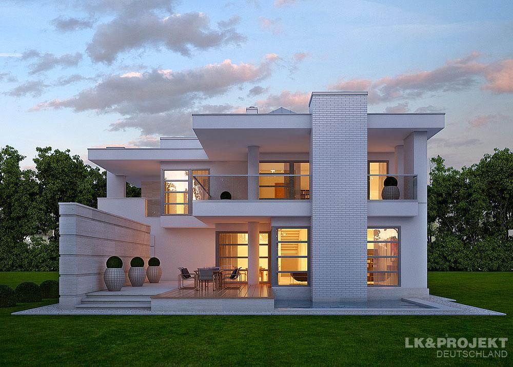 Ein elegantes einfamilienhaus moderne häuser von lk ...