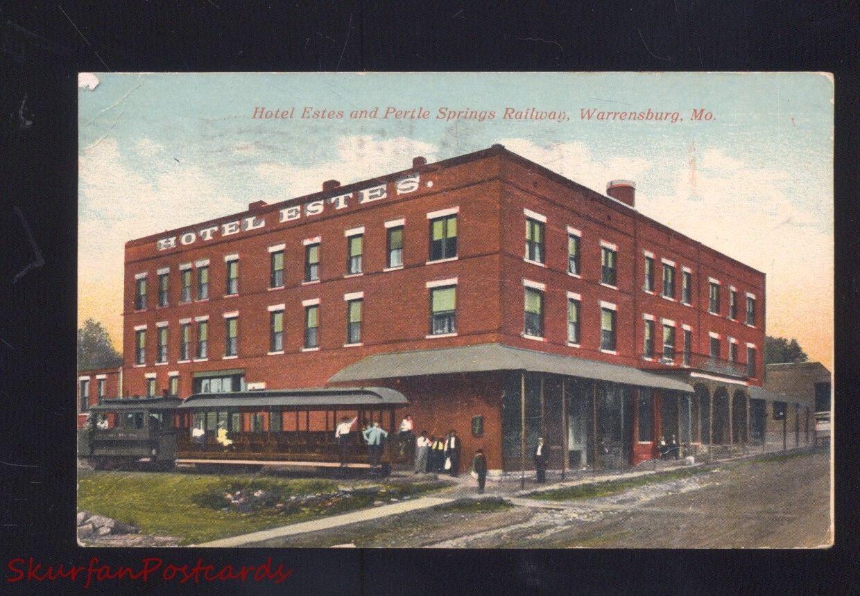 Warrensburg Missouri Hotel Estes Pertle Springs Railroad Depot Holden Street