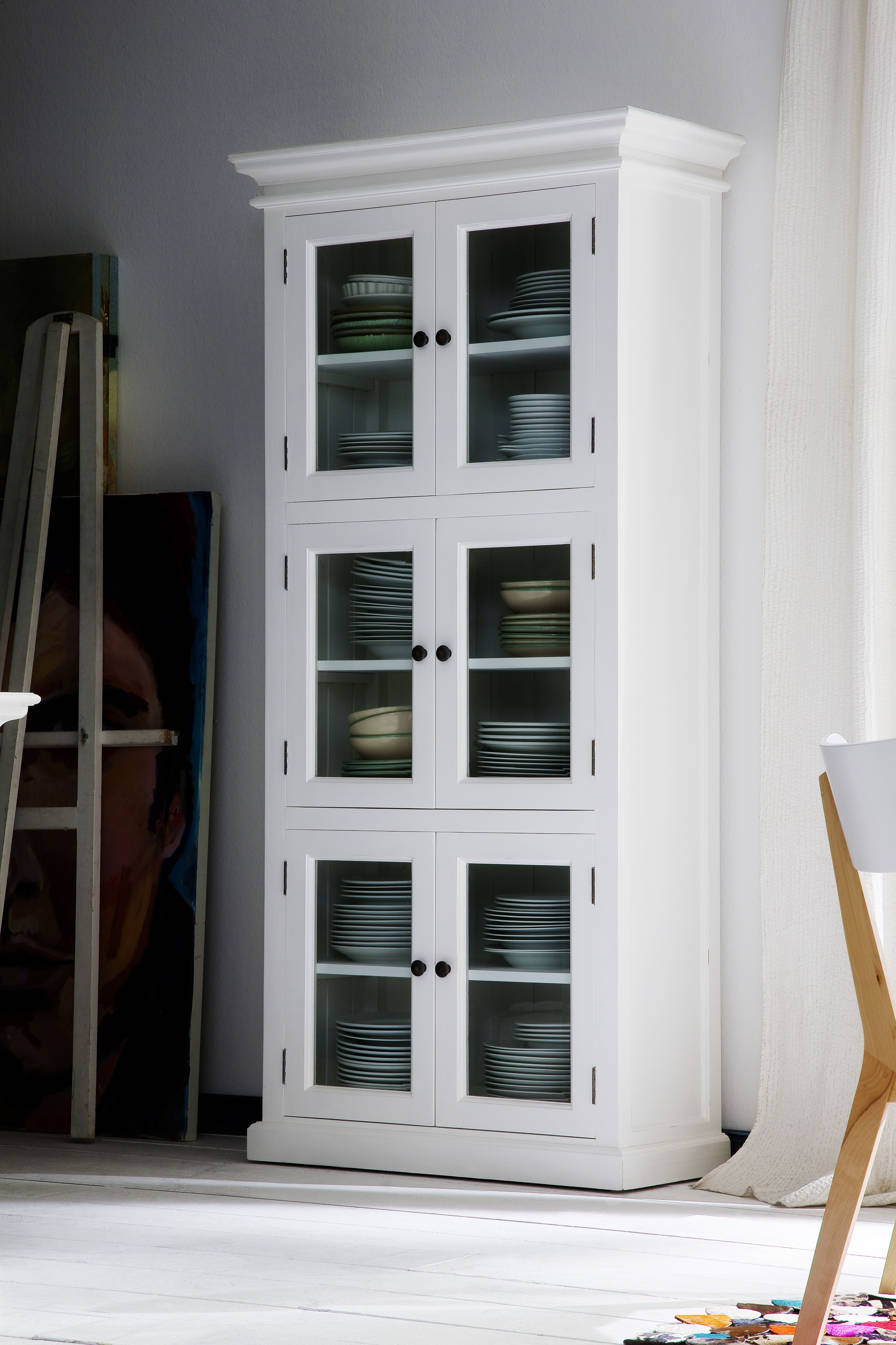 White Mahogany Furniture 3 Level White Pantry Www Novasolo Com  # Meuble Blanc Acajou
