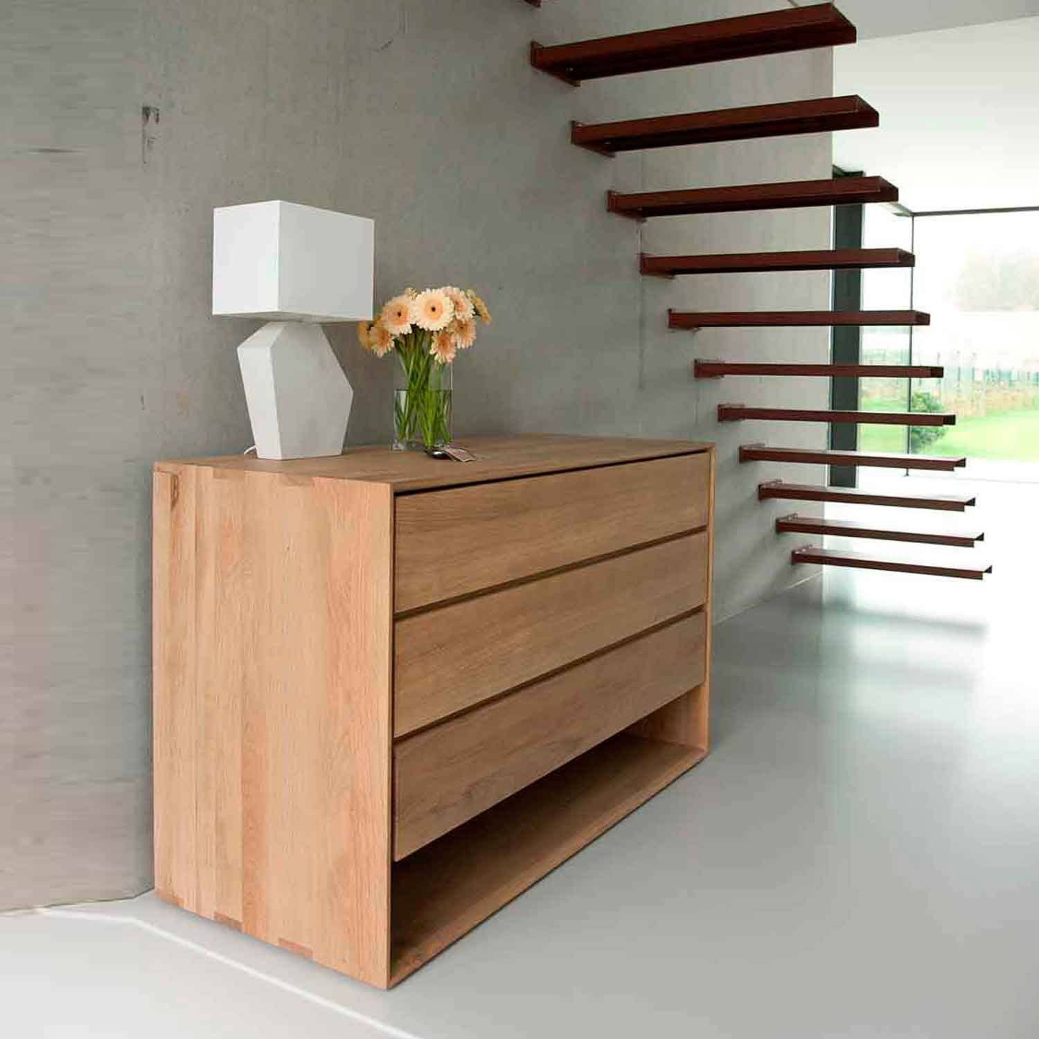 Ethnicraft Oak Nordic Chest Of Drawers