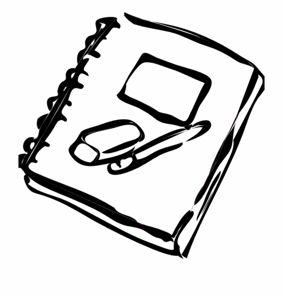 Black And White School Clipart Outline Of A Notebook Is A Free Transparent Png Image Search And Find More On Vippng School Clipart Clip Art Black And White