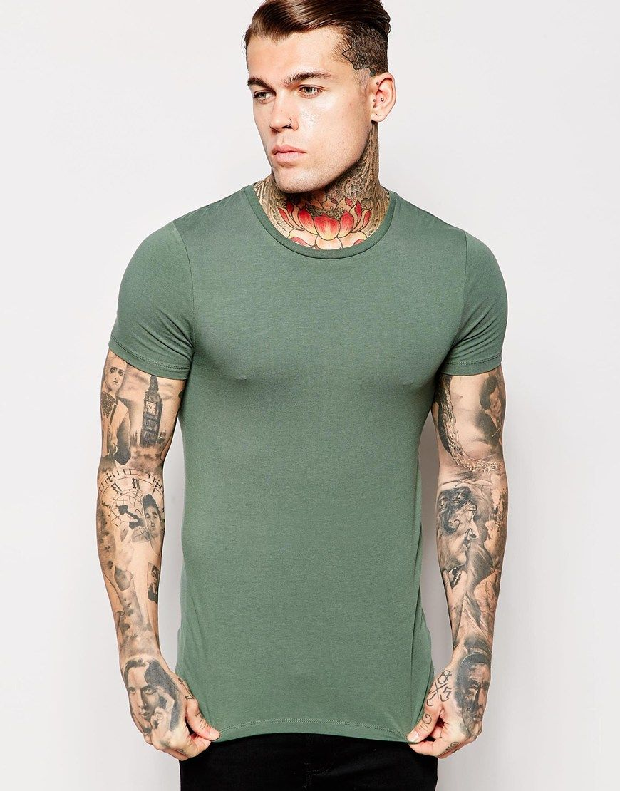 ASOS Extreme Muscle Fit T-Shirt With Crew Neck And Stretch at asos.com