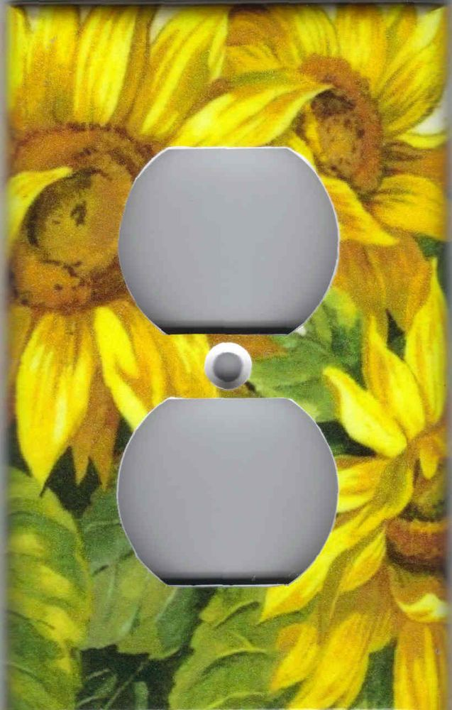Sunflowers kitchen home wall decor outlet cover | Sunflowers ...