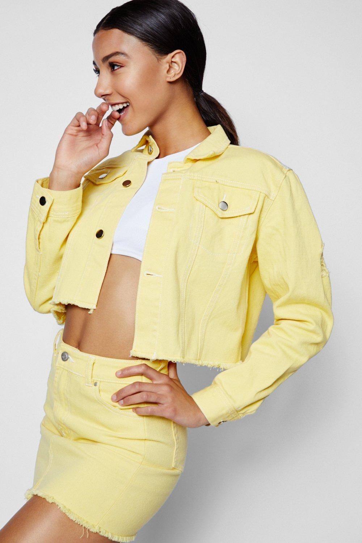 76199b692afe2 Cropped Contrast Stitch Denim Jacket | Clothes 'n More Wishlist ...