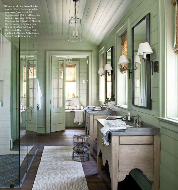 Rustic French Country Bathoom from Cote Sud home decor magazine from ...