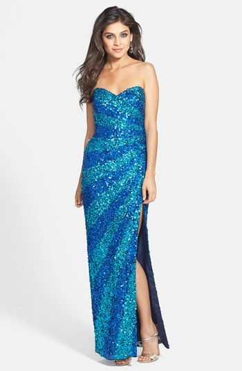 Sean Collection Sequin Silk Gown available at #Nordstrom | wedding ...
