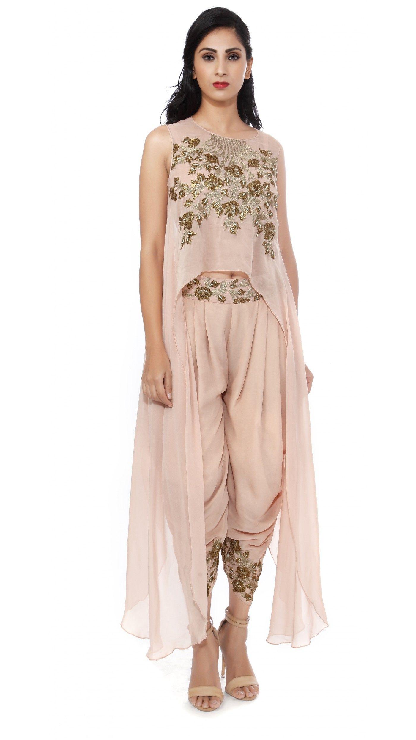 ba1125cdf500cb SVA by Sonam   Paras Modi s Old Rose Asymmetrical Top with Patiala Pants