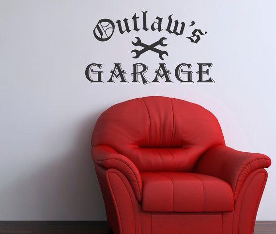 Outlaws Garagevinyl Wall Art Sticker Decal Home Decor Theatre - Custom vinyl wall decals for garage