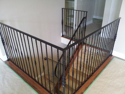 Best Custom Built Wrought Iron Steel Railings Handrails Metal 400 x 300