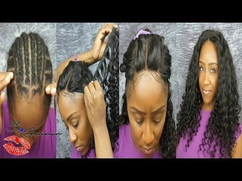 3 Part Lace Closure Full Sew In Tutorial No Hair Out Ft
