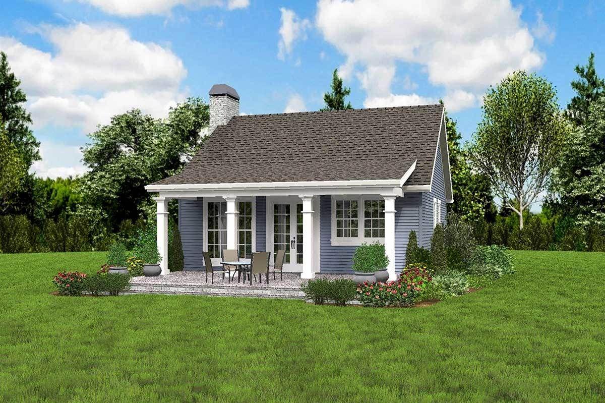 Plan 69638AM: One Bedroom Guest House | Backyard guest ...