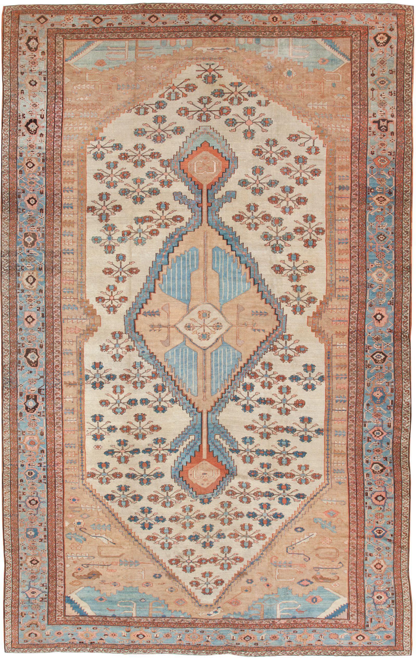 Large antique persian bakshaish rug by nazmiyal