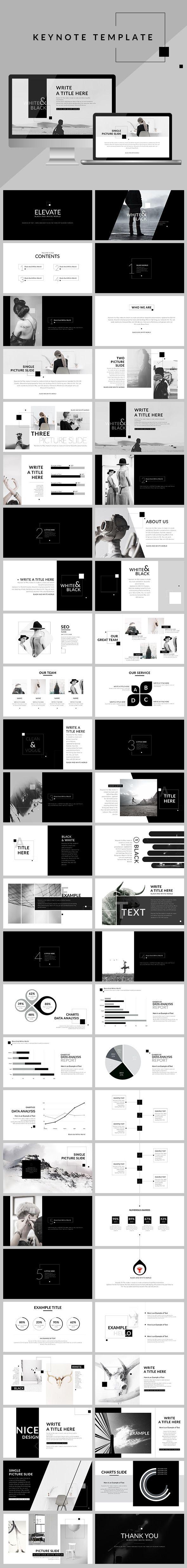 black white clean keynote template creative keynote templates