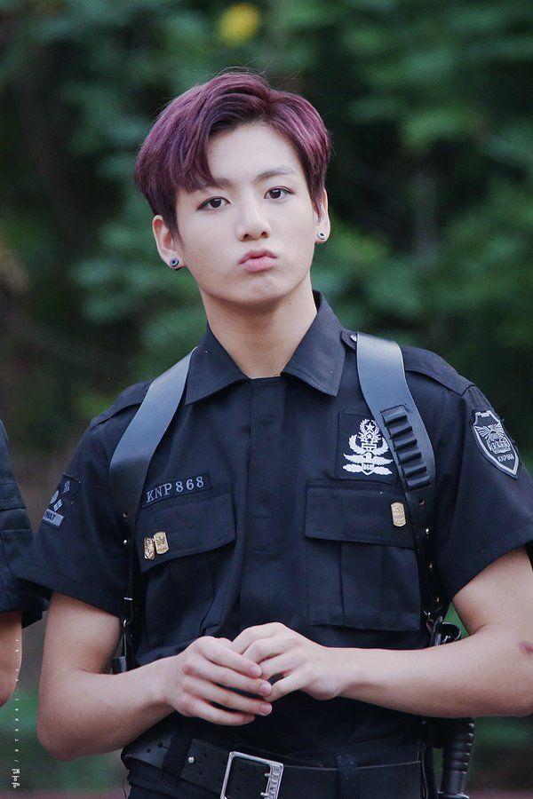 Jungkook police uniform