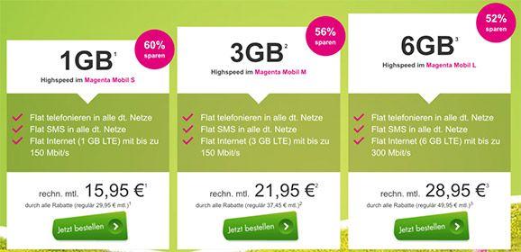 Telekom Magenta Mobil M / M Young mit TOP Smartphone für 1