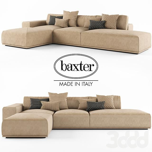 3d модели: Диваны   диван Baxter MONSIEUR MODULAR