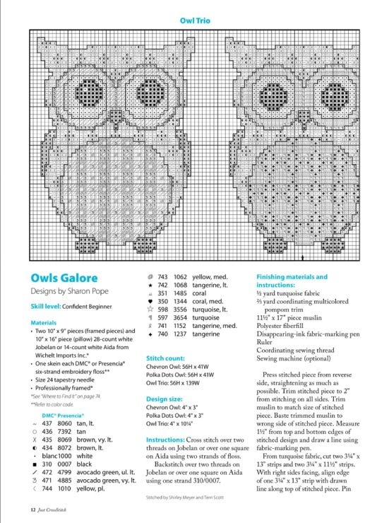 This looks like the rest of the owl cross stitch I pinned earlier today....