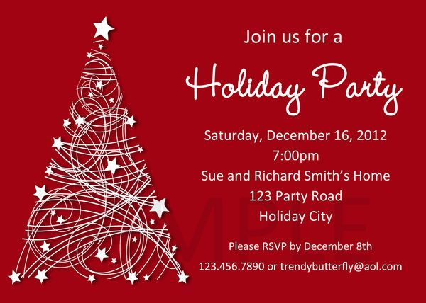 Christmas Party Invitation Free Download Invitations Free