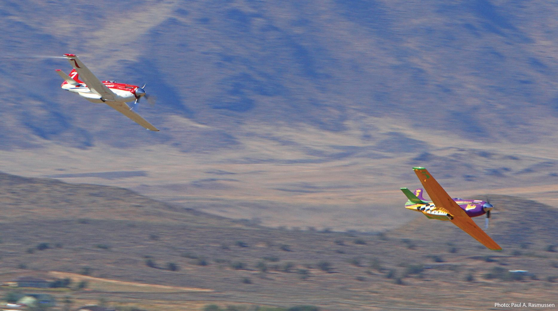 Strega and Voodoo battle at the 2015 Reno Air Races. Air