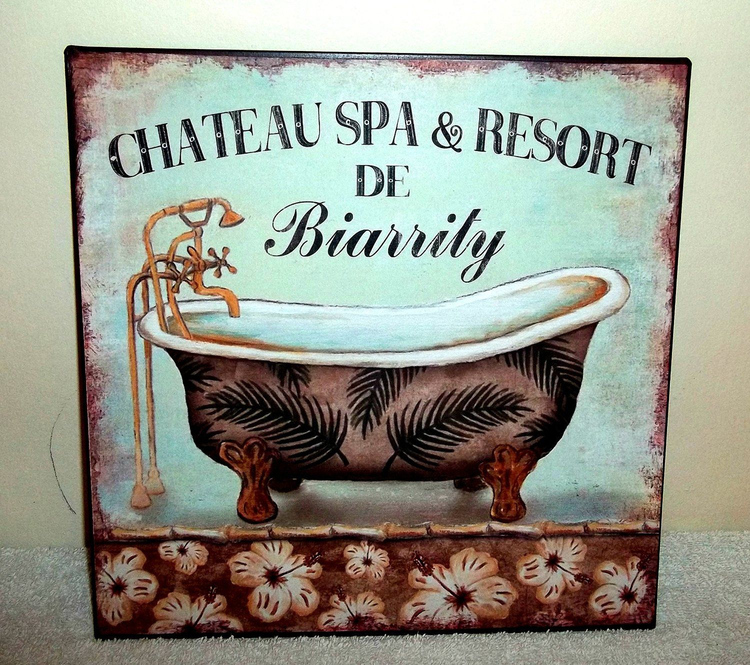 SHABBY CHIC VINTAGE FRENCH PARIS STYLE METAL WALL SIGN PLAQUE ...