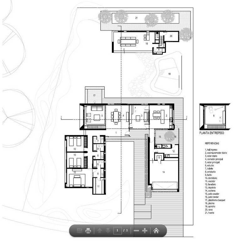 CASA U. Planta baja.Eleonora-Aquilante-Ariel-Busch-Arquitectos ...