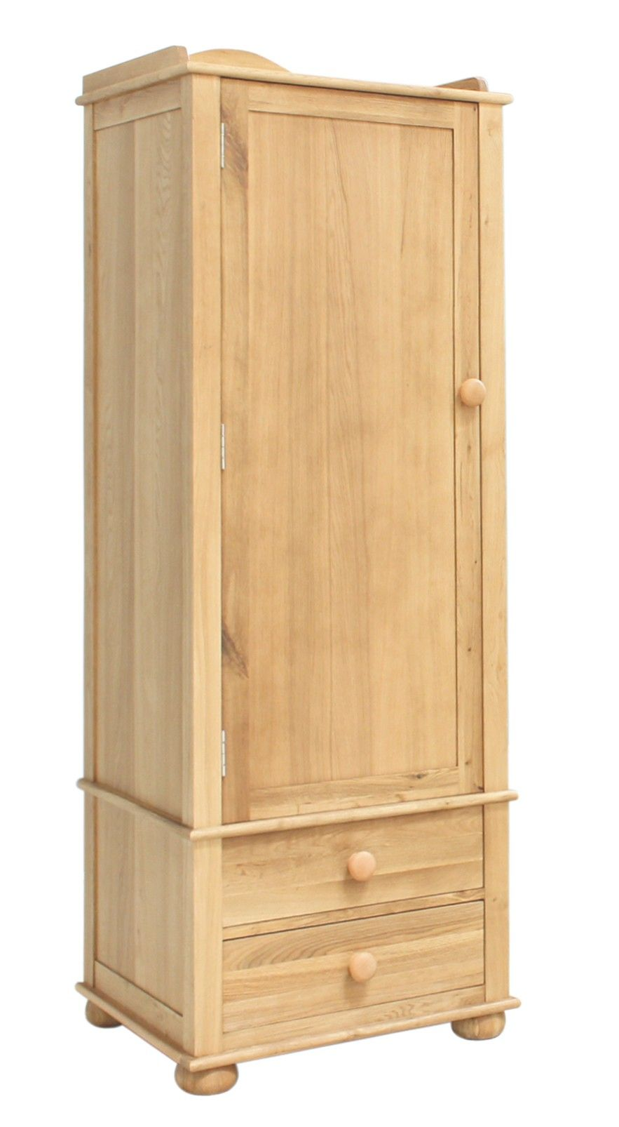 The dimension of this Emily Solid Oak Childrens Single Wardrobe are as follows - the height is 180, the width is 63 the depth is 52 and the volume of this Emily Solid Oak Childrens Single Wardrobe is 0.59. http://www.bonsoni.com/emily-solid-oak-childrens-single-wardrobe