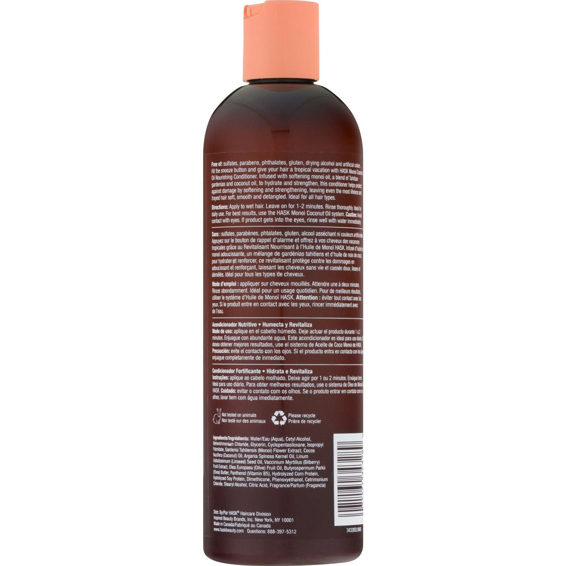 Hask Monoi Coconut Oil Nourishing Conditioner 12 Fo Coconut Oil