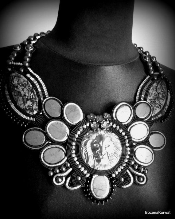 Soutache necklace от BozenaKorwatJewelry на Etsy