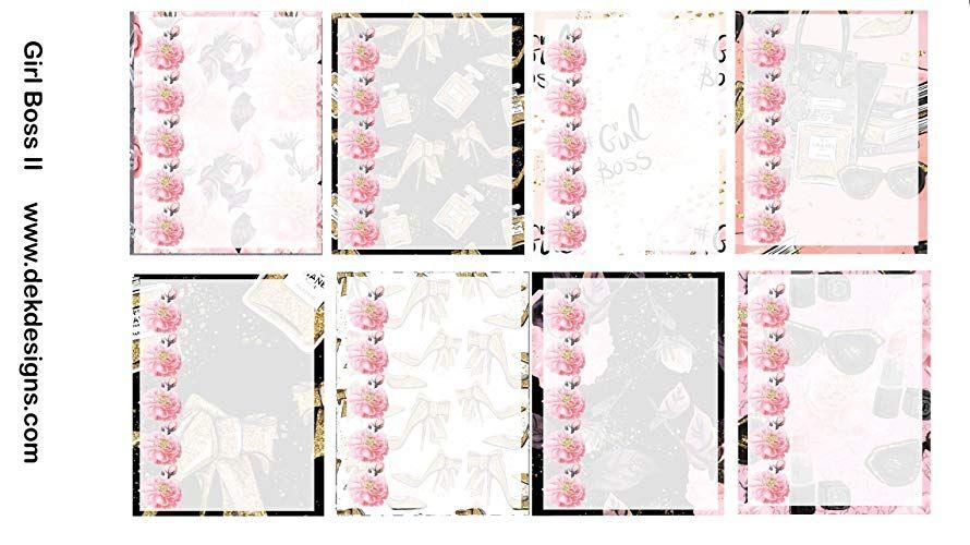 Planner Calendar sticker kit Girl Boss just peel and stick. 6 sheets on matte Kiss cut Erin Condren and Happy Planner sizes