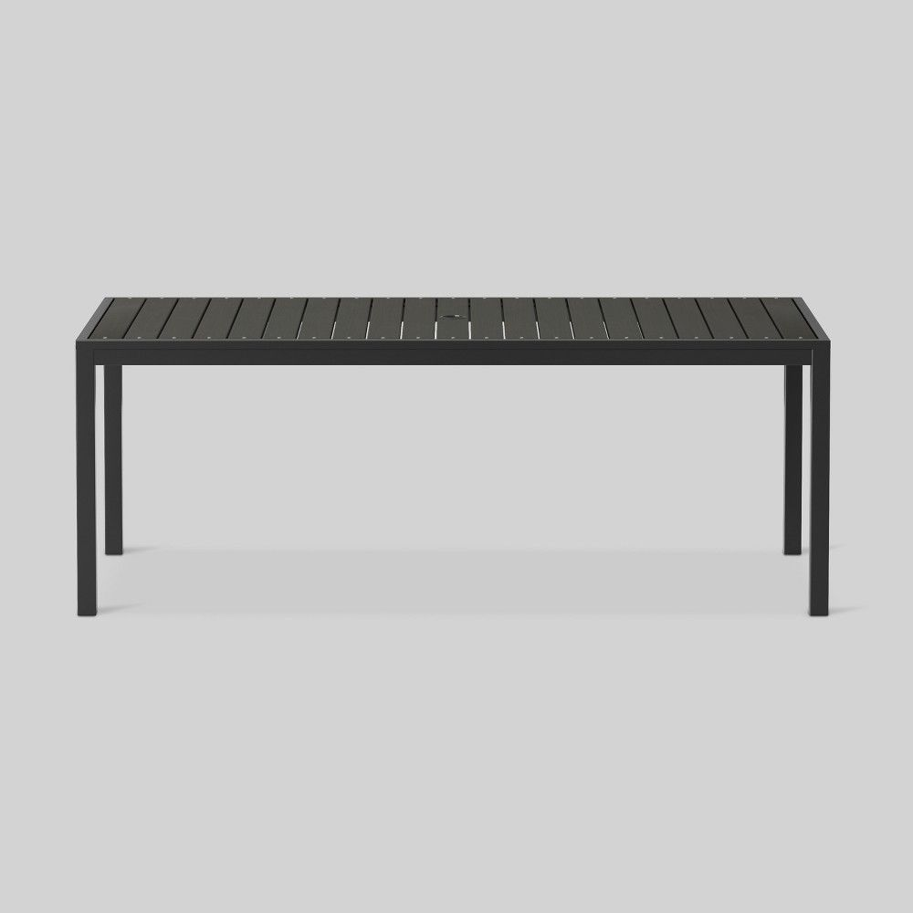 Bryant 6 Person Faux Wood Patio Dining Table Black Project 62