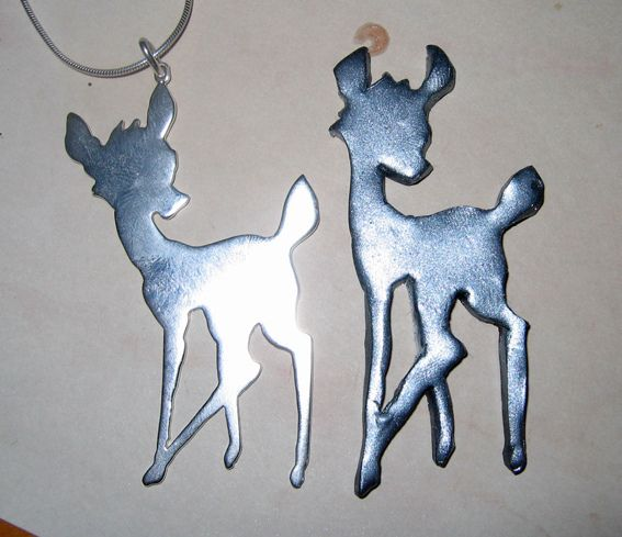 Silver and clay bambi