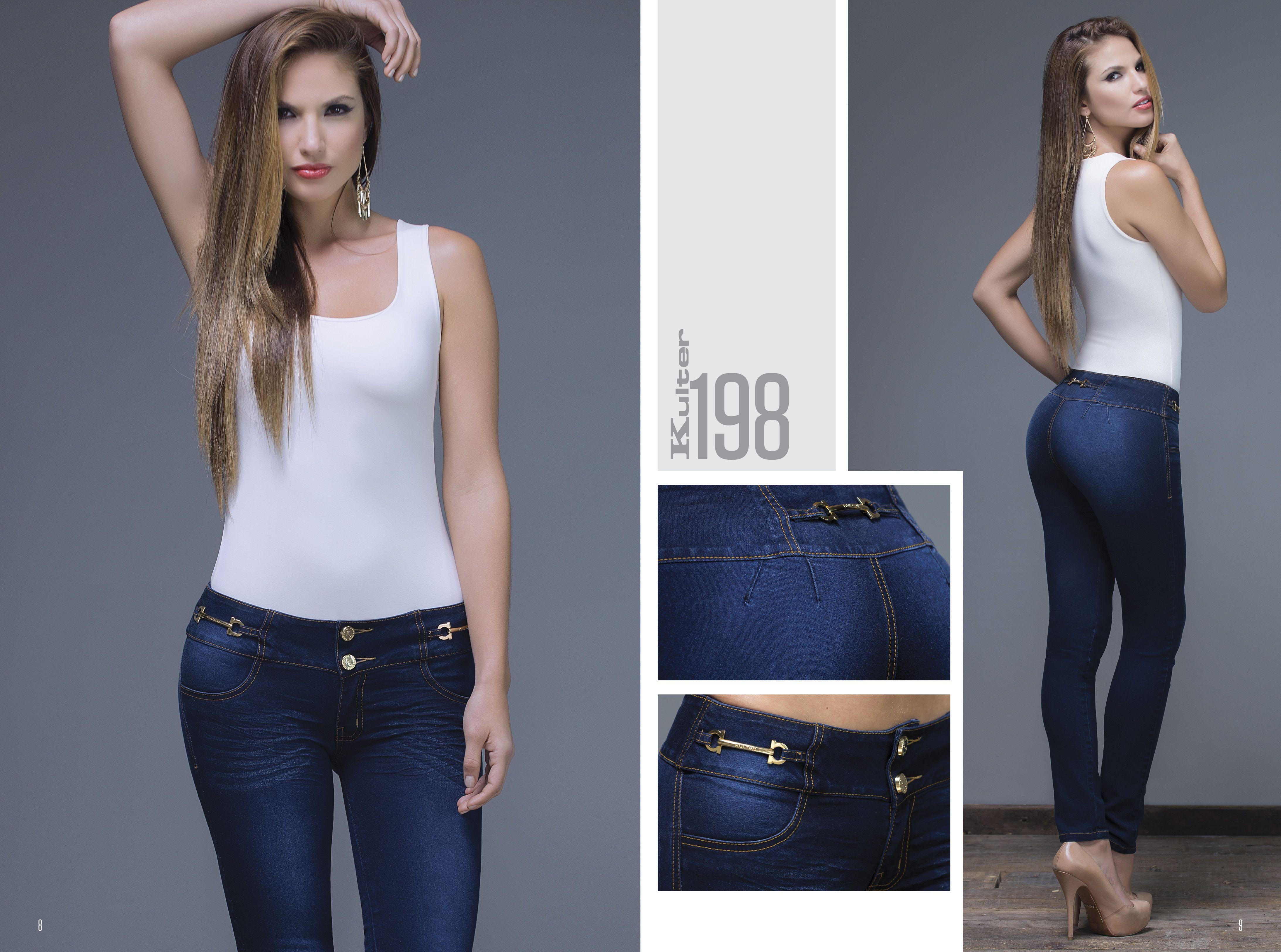 Ref 198.  Jean con pinzas y sin bolsillos. que se acomoda muy bien haciendo resaltar tu silueta. #bykulter #Modas #Fashion #Silueta #Mujeres #Look #Style