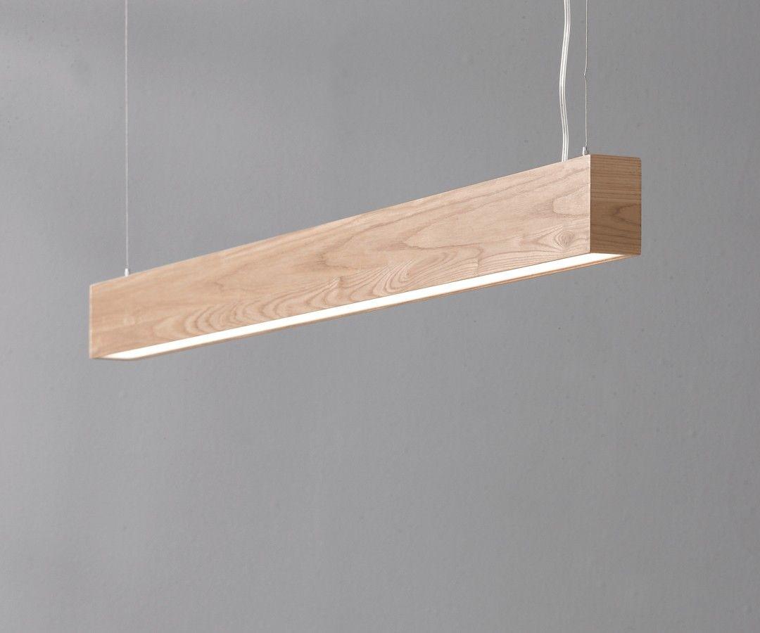 LEDlux Nord LED Up Down Pendant in Teak Modern Pendants
