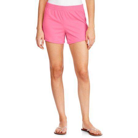 Danskin Now Women's Basic Knit Shorts, Size: Medium, Pink