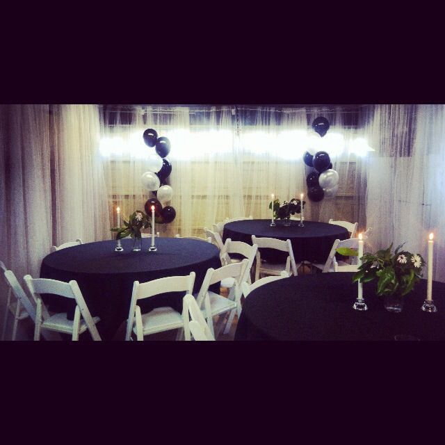 Large Dinner Party Ideas Part - 50: Converted Garage For Large Dinner Party With Ikeau0027s Lill Draperies.