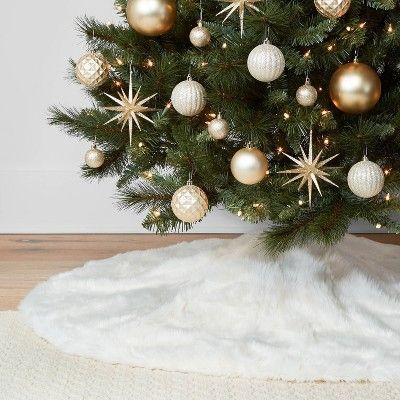 48 Faux Fur Christmas Tree Skirt Ivory Wondershop White Christmas Tree Inspiration Silver Christmas Tree Christmas Tree Skirt