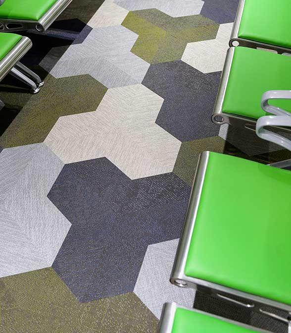 Bolon floor tiles in Lyell McEwin Hospital