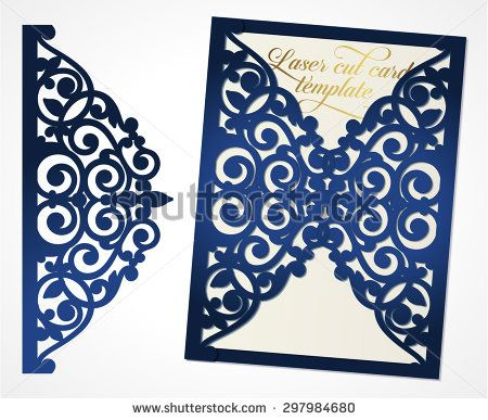 Abstract wedding cutout invitation template Suitable for - best of luxury invitation vector