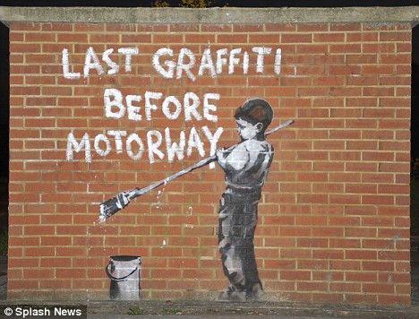 Brick Wall Graffiti Banksy