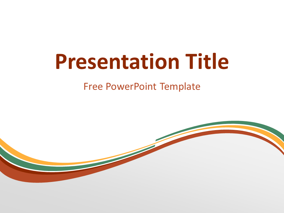 Orange Green Wave Powerpoint Template Abstract Powerpoint