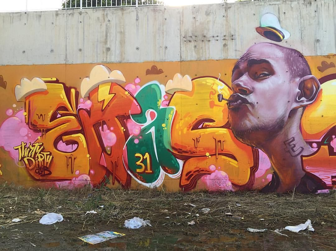 Thanks to loopcolors for the support erase macs arsek graffiti portrait fun cyprus birthday