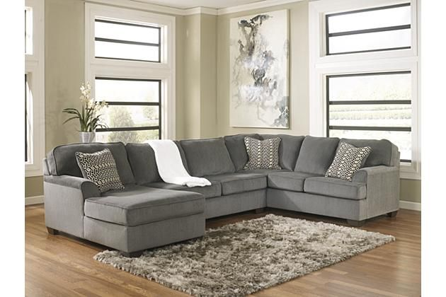 Smoke Loric 3 Piece Sectional View 1 Ashley Furniture has