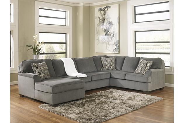 Smoke Loric 3 Piece Sectional View 1 @ Ashley Furniture (has Matching  Ottoman)