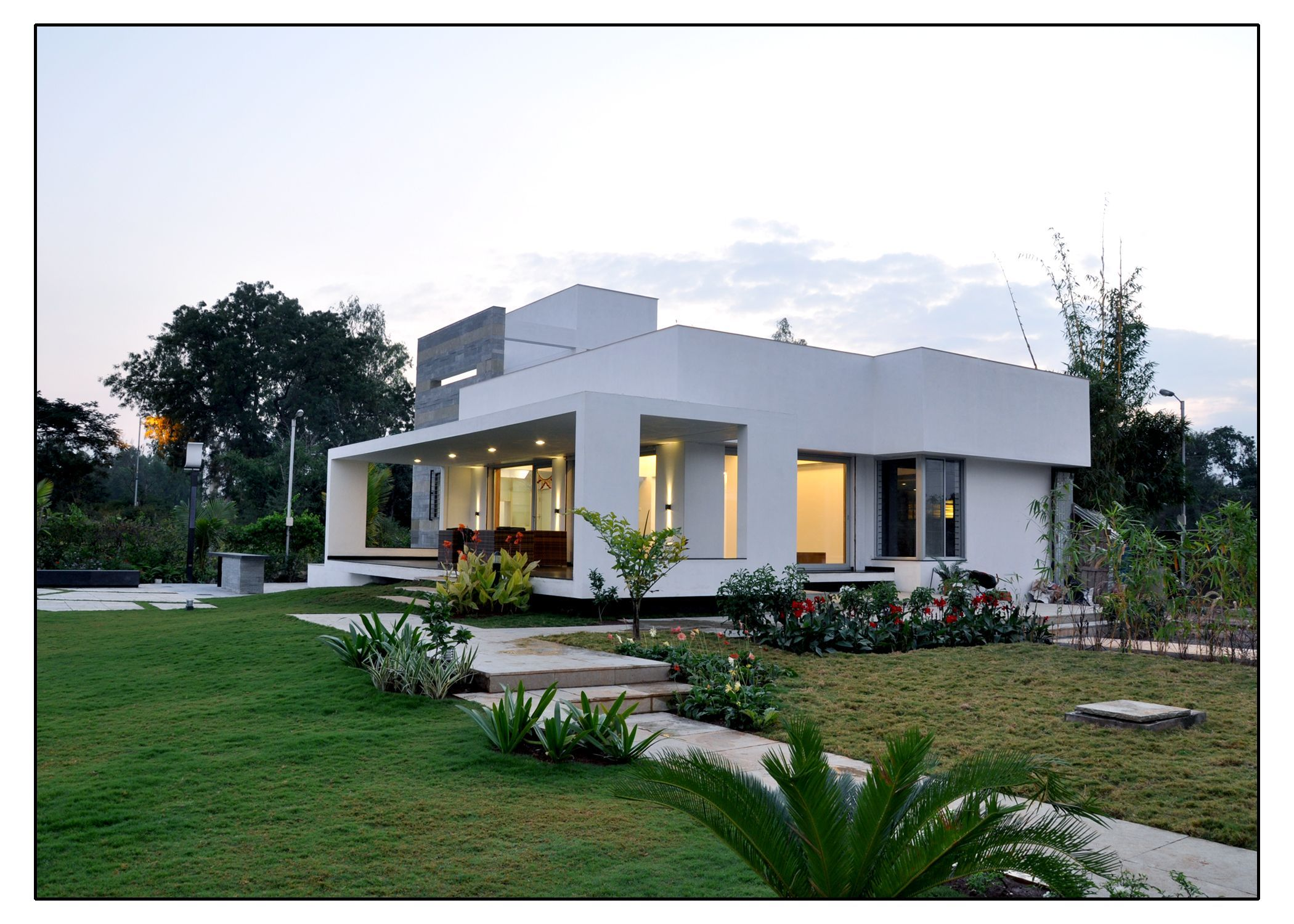 Architecture and interior design projects in india for Farm house model