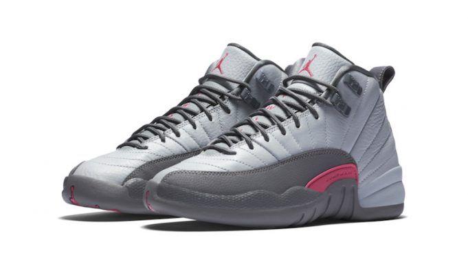 1e7314977e2d Girls Air Jordan XII (12)  Wolf Grey-Vivid Pink  -Release Date  Saturday