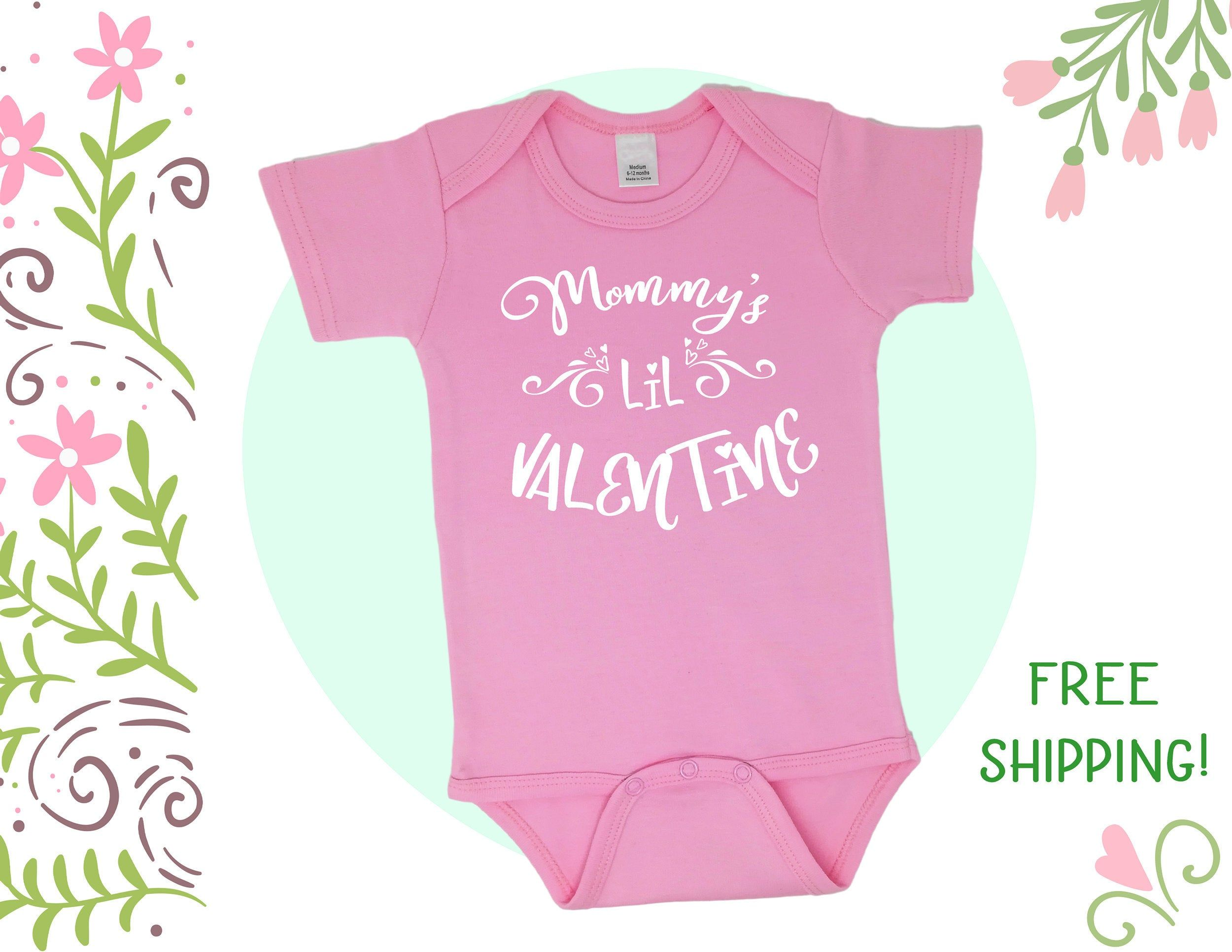 Personalised Baby Vest Named First Valentines Baby Bodysuit Cute Valentine Gift